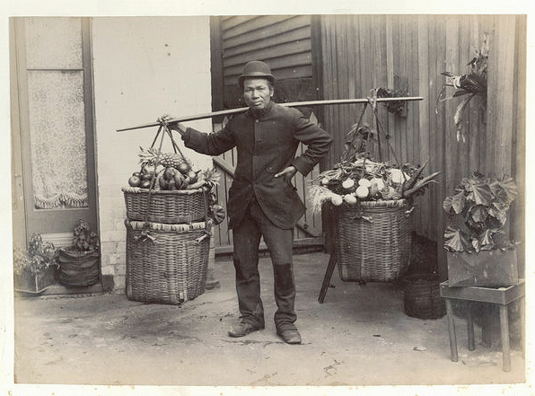 Chinese fruit and vegetable hawker
