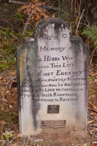 Headstone of First Fleeter Peter Hibbs
