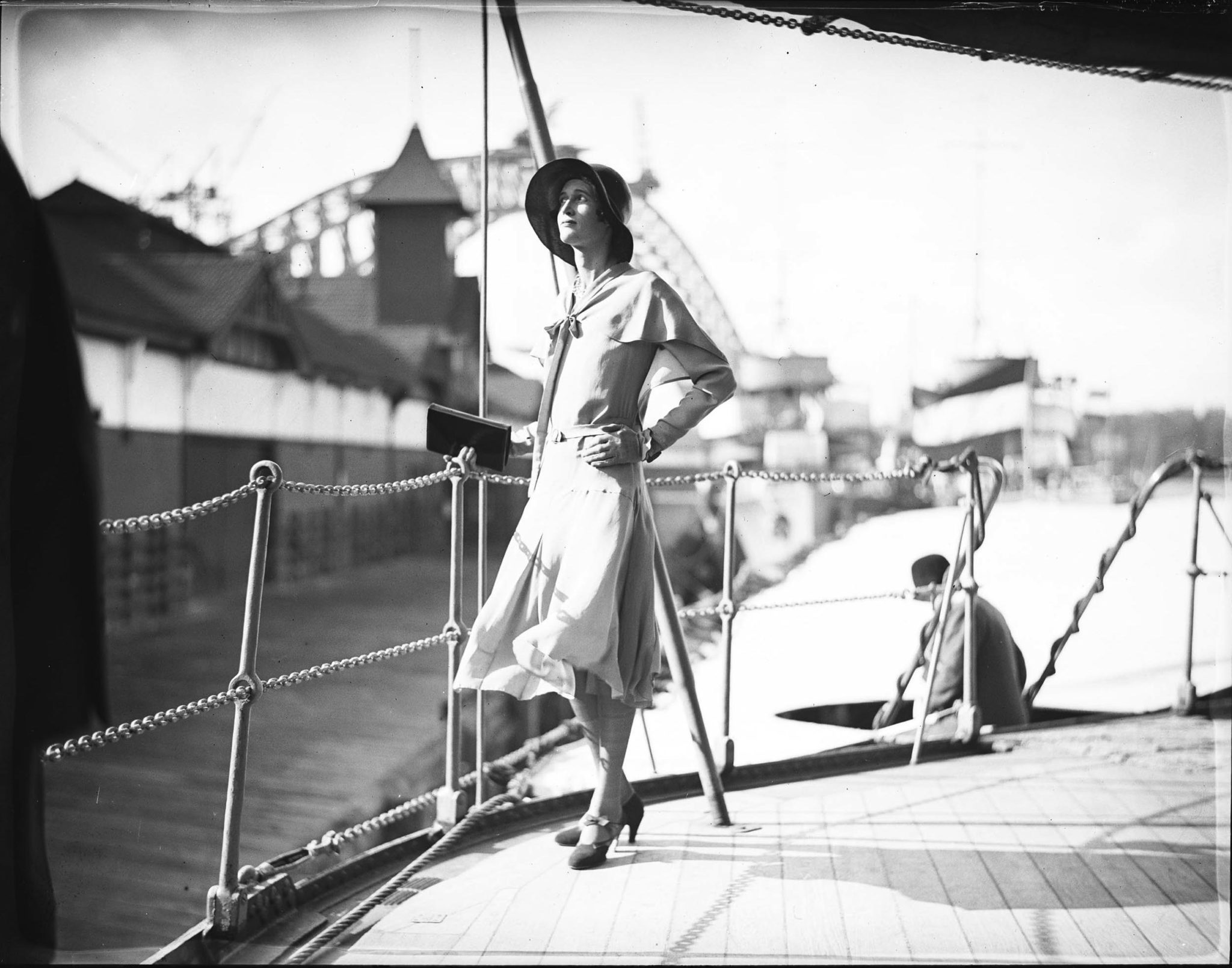 Mystery lady identified: A glass-plate negative on Flickr Commons