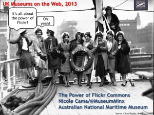 UK Museums on the Web 2013: The power of Flickr Commons