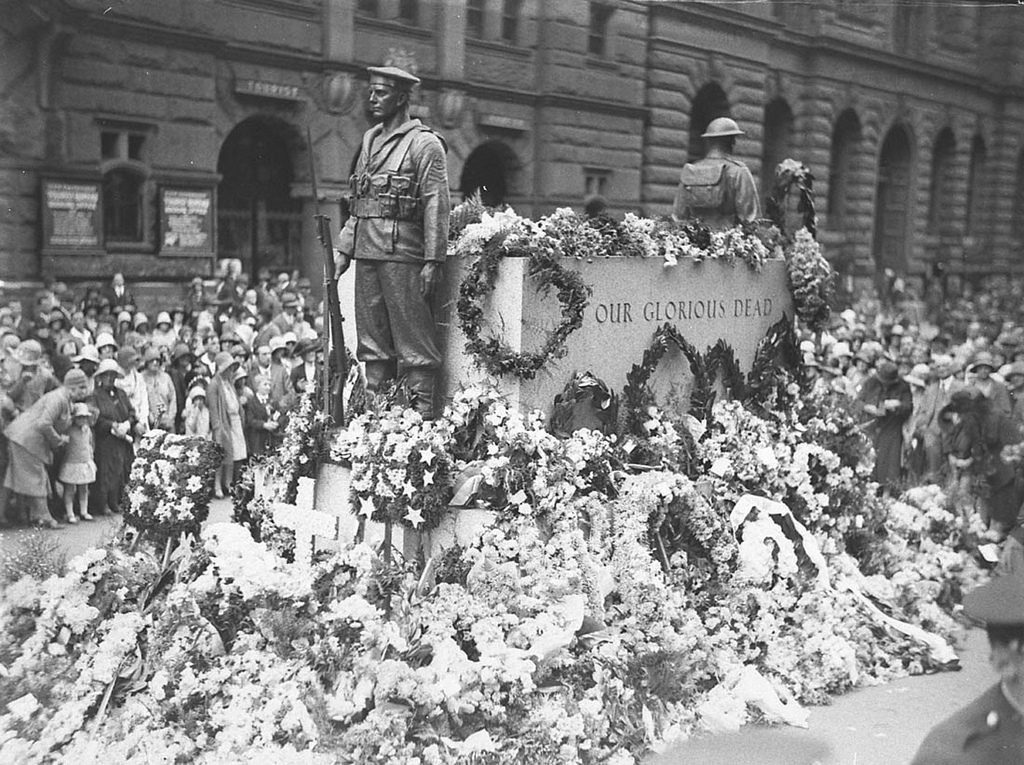 Wreaths on the Cenotaph, Martin Place