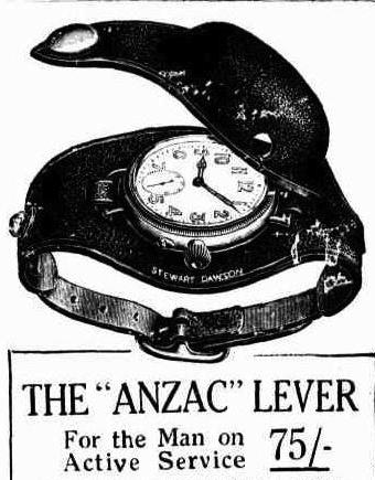 Advertisement for 'The 'ANZAC' Lever'