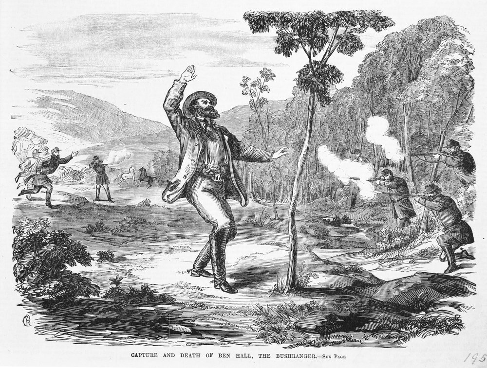 Capture and death of bushranger Ben Hall 1865, State Library of Victoria