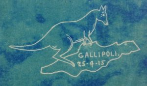 Gallipoli with kangaroo trinket designed by Edward Arthur Newlyn