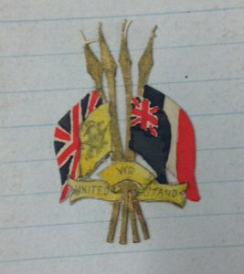 'United We Stand' badge designed by Edward Durant