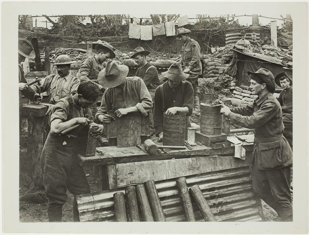 Australian Engineers making small stoves