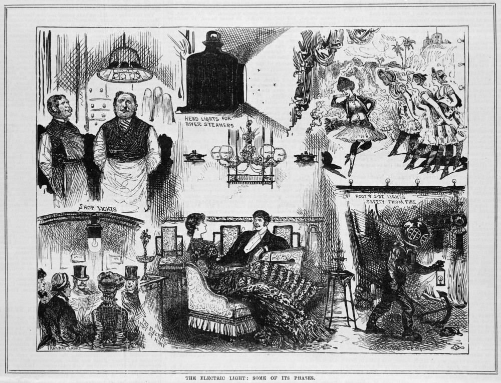'The electric light: some to its phases', 1 July 1882, State Library of Victoria