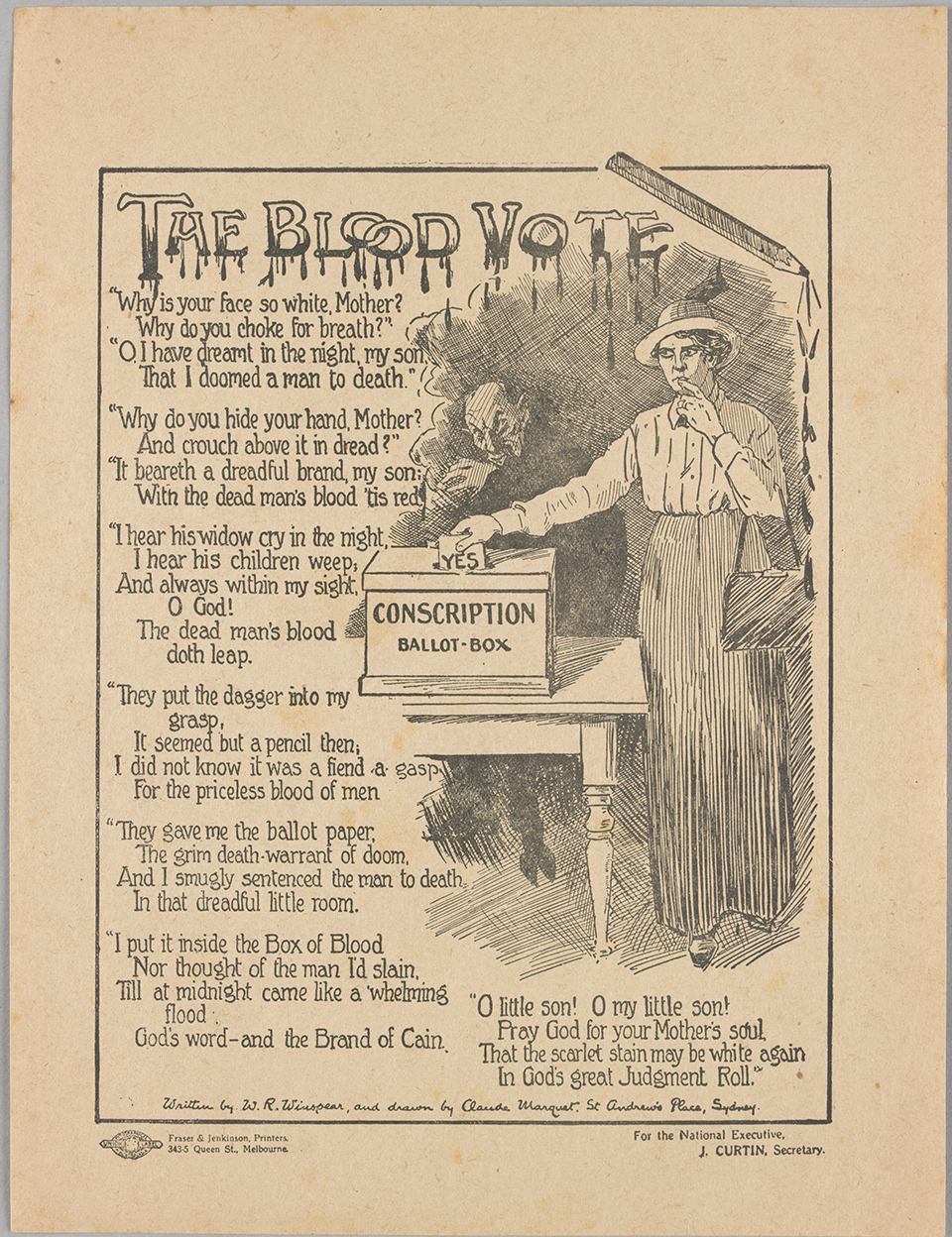 The Blood Vote 1916