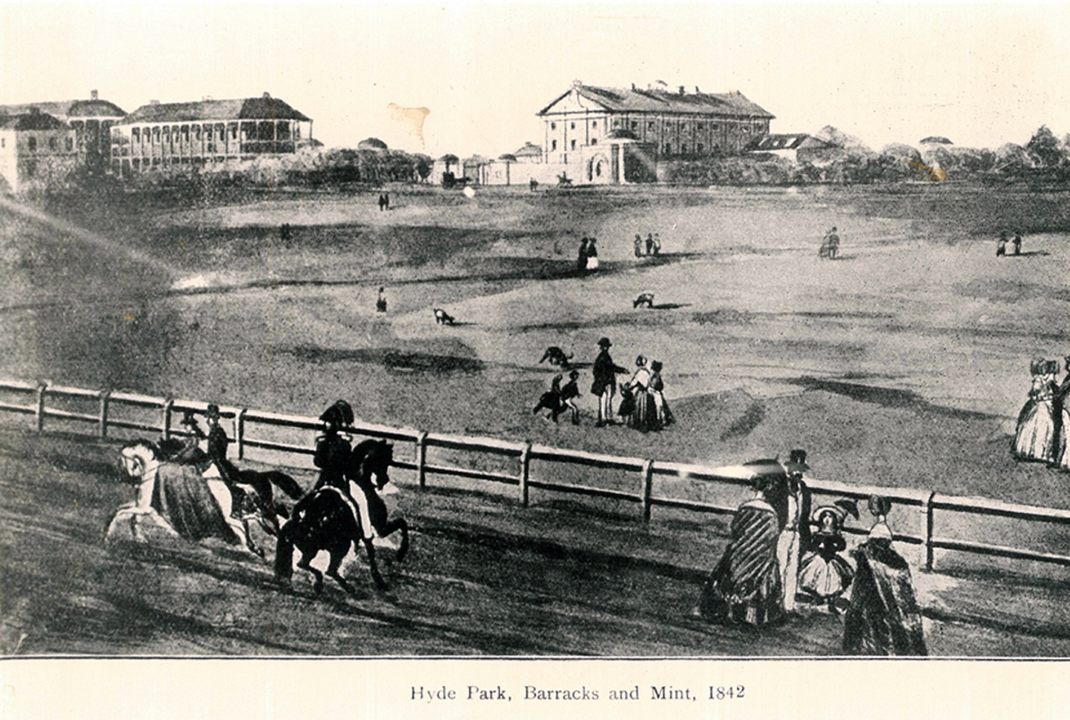 Northern end of Hyde Park 1842