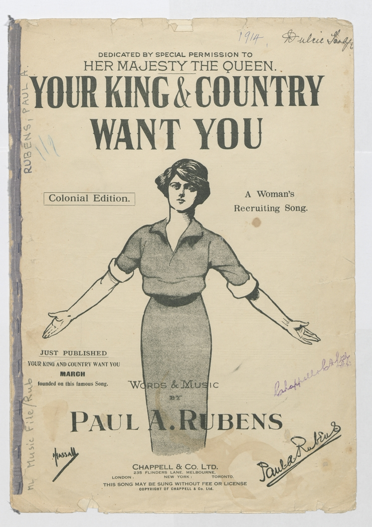 Cover of the song 'Your King & Country Want You: A Woman's Recruiting Song'