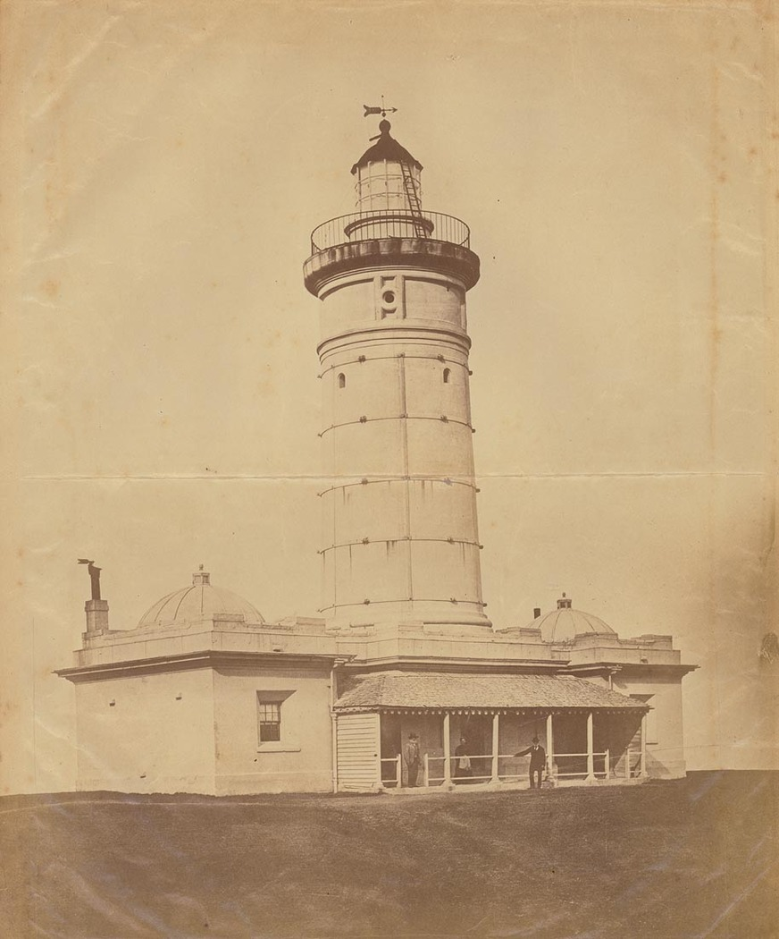 First Macquarie Lighthouse, Vaucluse 1870s, State Library of NSW