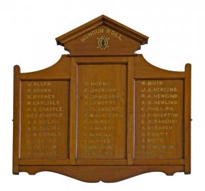 Ultimo Presbyterian Church World War I Roll of Honour