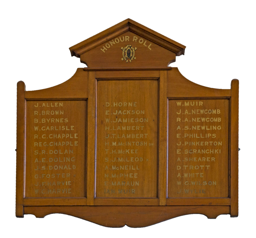 The Ultimo World War I Roll of Honour